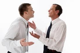 arguing men suits
