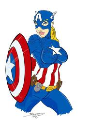 female superhero w shield