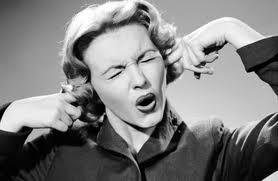 Woman ignoring painful sensations
